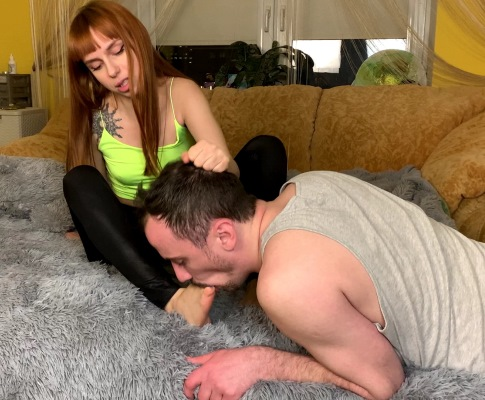 Foot Worship Grows Into Foot Domination Femdom With Brat Girl Kira
