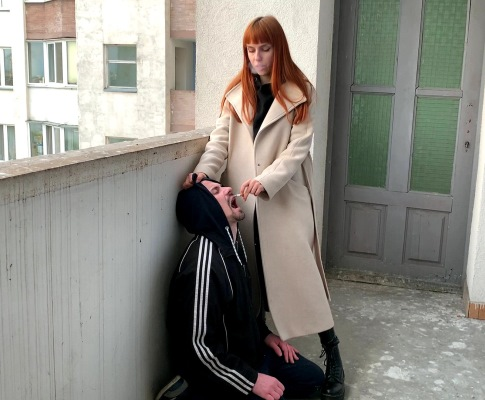 Smoking Goddess Kira - Human Ashtray Dirty Femdom Outdoor