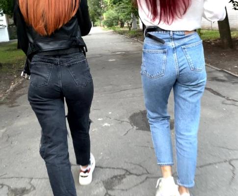Outdoor POV Femdom Over A Random Stranger (You) And Jeans Fetish
