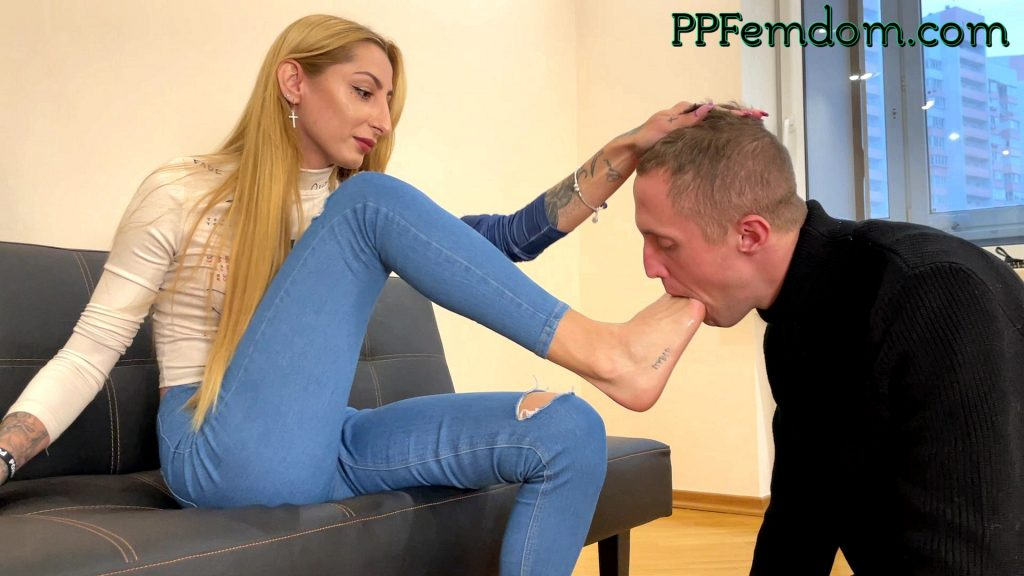 Foot Gagging Humiliation and Feet Licking Femdom With Mistress Agma