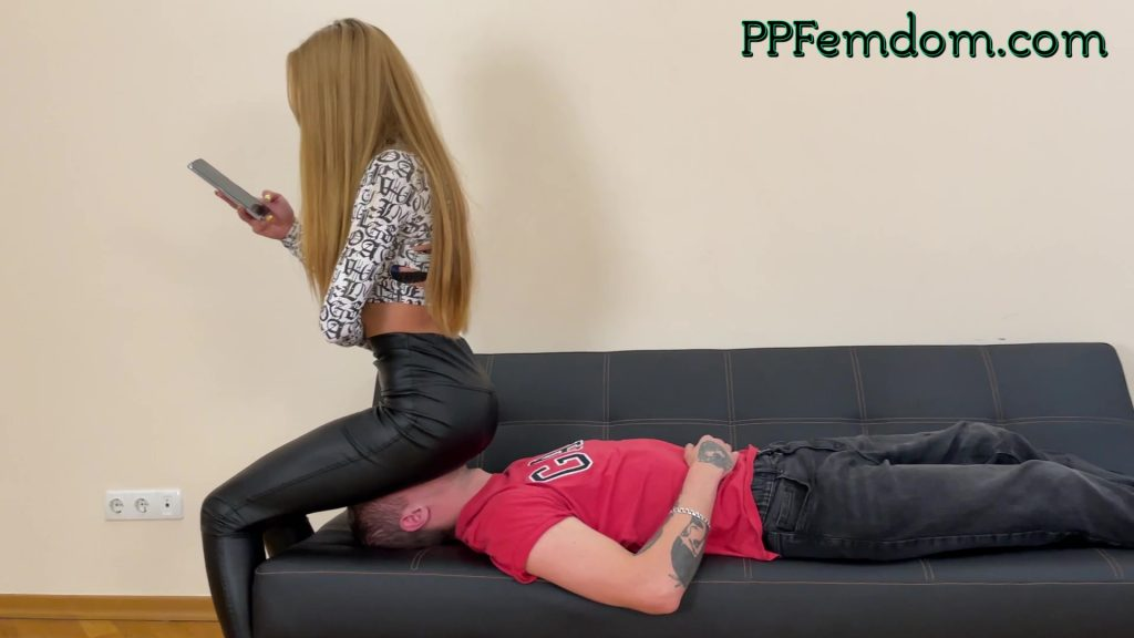 Mistress Agma Uses Her Slave Like a Human Chair For Ignored Face Sitting