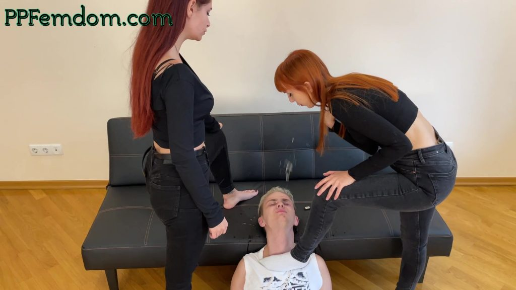 Mistress Kira Spit In Slave's Face - Double Spitting Femdom